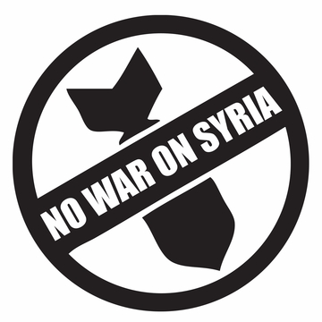 No War On Syria Logo Button