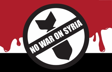 No War On Syria Poster T-shirt
