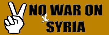 No War With Syria Bumper Sticker