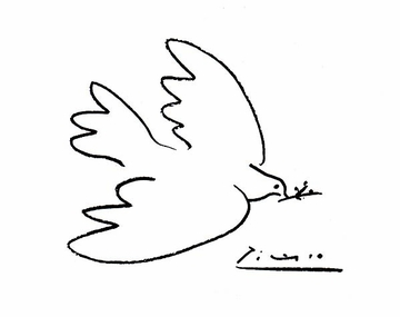 Pablo Picasso, Dove of Peace T-Shirt