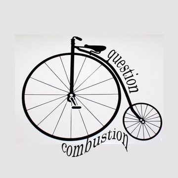 Question Combustion Big Bike T-shirt