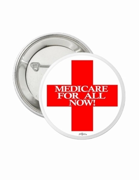 Red Cross Medicare For All Button