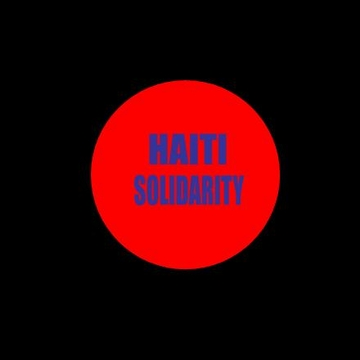 "RED Haiti Solidarity<BR> 1.25"" Button"