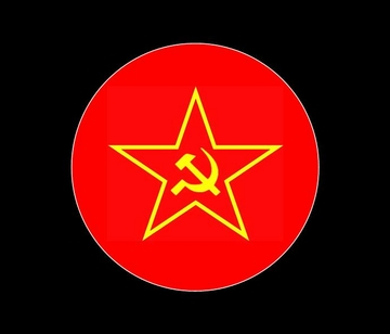 Red Star Hammer & Sickle Button