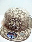 Rhinestone Peace Hats