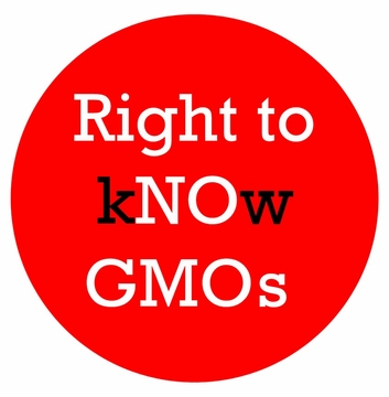 Right to kNOw GMOs Button