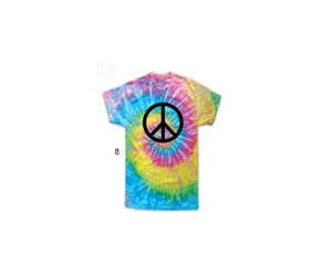 """Saturn"" Peace Tie Dye T-Shirt"