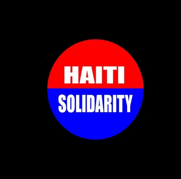 Small Haiti Solidarity Button 1.25""