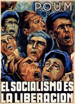 Socialism Is The Liberation Spanish Civil War Poster