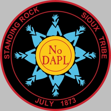 Standing Rock Sioux Tribe No DAPL Button!