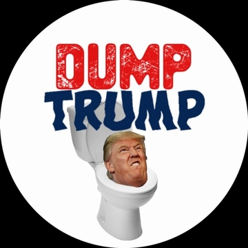 Trump in Toilet Button