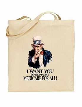 Uncle Sam Medicare For All Tote Bag