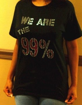 We Are The 99% Rhinestone T-Shirt