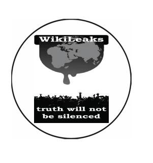 Wikileaks The Truth Will Not be Silenced Button