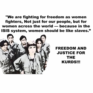 Solidarity With The Kurdish Women of Kobani T-Shirt - Available In Up To 10 Colors! -