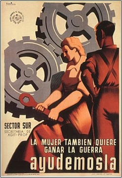 Women Want To Win The War Spanish Civl War Poster