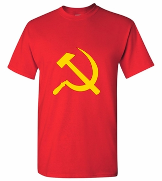 Yellow & Red Hammer & Sickle T-Shirt
