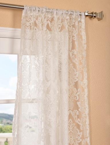 Shop discount curtains drapes blackout curtains more for Patterned sheer curtain panels