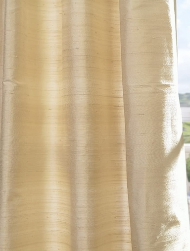 Buy maplewood textured dupioni silk curtains and drapes for Silk curtains texture
