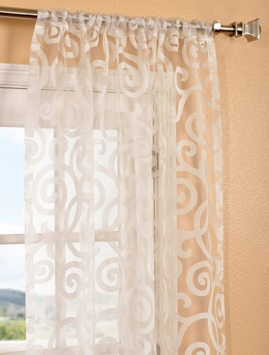Sheer Patterned Curtains Half Price Drapes Wayfair Margo Ivory Patterned Sheer Curtain