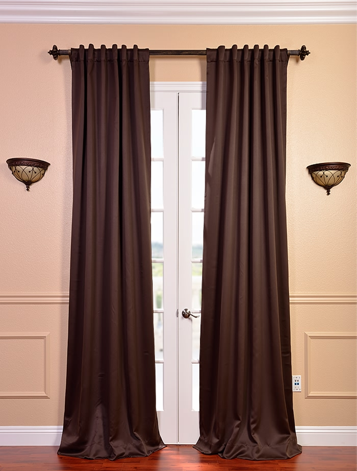Online Drapery Store Shop Online Discount Window Curtains And Drapes Pole Pocket Java Blackout