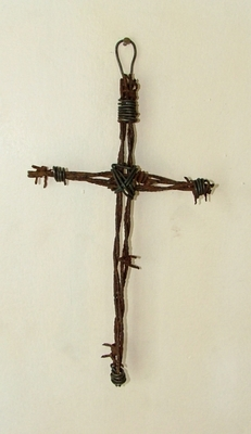 Barbed Wire Small Cross (#50935)