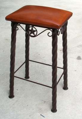 Barstool 12x16 Leather Seat 30 in (#51554)