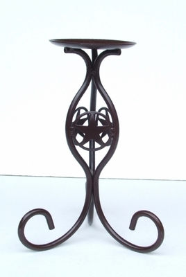 Candle Holder Large w/Concho (#50823)
