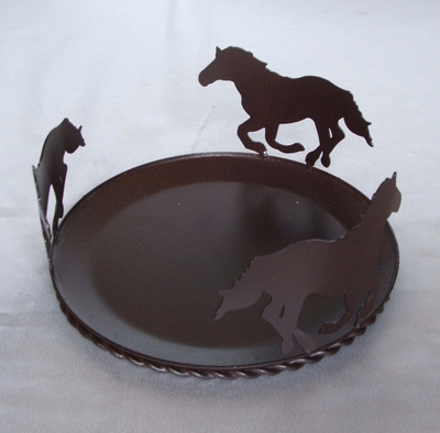 Candle Plate Horse 7 In (#51117)