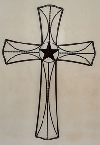 Cross Large w/5 in Star (#50937)