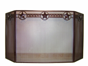 Fireplace Screen 620 w/star  (#50180)