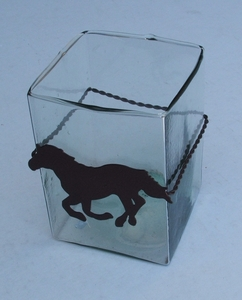 Horse Square Glass (#51173)