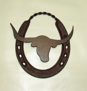 Horseshoe Medium w Longhorn (#51224)