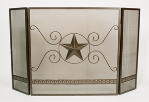 "Large Star Fireplace Screen 36"" Tall  (#00621)"
