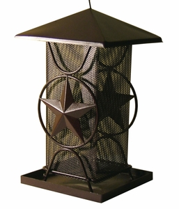 Metal Bird Feeder w/Star  (#00590)