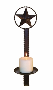 Star twist candleholder  (#50470)