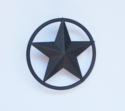 Star w/Solid Ring 5 Inch Rustic  (#00905)