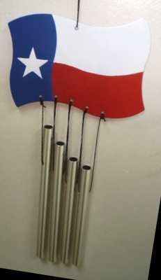 Texas Flag Windchime (#93049)