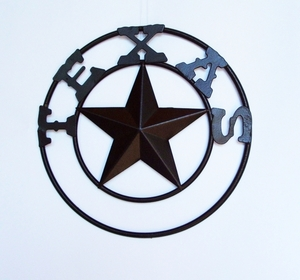 Texas Star w/Double Ring 9 Inch  (#52604)