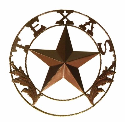 Texas Star w/Wire Braid and Leaves 18 Inch  (#52502)