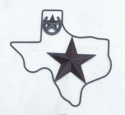 Texas w Star & Horseshoe (#51502)