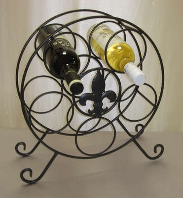 Wine Rack Fleur de lis Table Top(50979)
