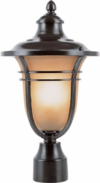 "16.25"" Outdoor Lamp Post By Trans Globe - Bronze 5703ROB"
