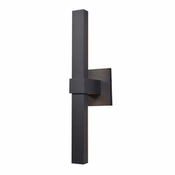 "Access Bi-Vertical LED 17.5"" Exterior Light Sconce - Black 20047LEDMG-BL-ACR"