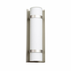 "Access Cilindro LED 12.38"" Exterior Wall Light - Brushed Steel 20067LEDD-BS-OPL"