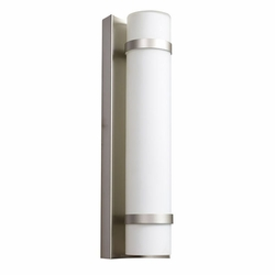 "Access Cilindro LED 15.38"" Outdoor Wall Lantern - Brushed Steel 20068LEDD-BS-OPL"