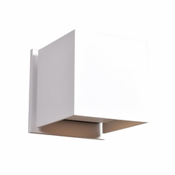 "Access Square LED 4.25"" Outdoor Wall Sconce Lighting - White 20399LEDMG-WH"