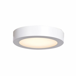 "Access Ulko LED 7"" Outdoor Flush Mount Light - White 20071LEDD-WH-ACR"