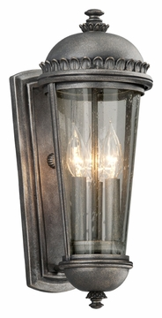 "Ambassador 17.5"" Outdoor Wall Sconce By Troy - Pewter B3562"