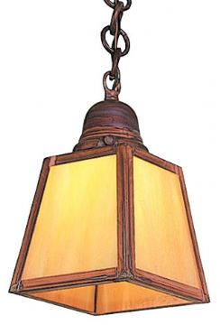"Arroyo Craftsman A-Line 7.875"" Outdoor Lighting Pendant - Craftsman"